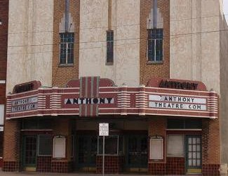 anthony theatre front of building