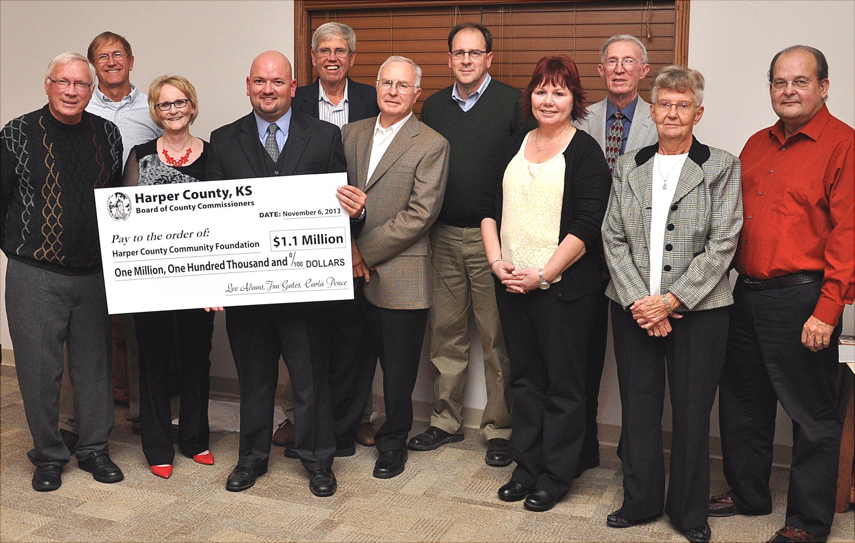 Kansas harper county attica - Left To Right Harper County Commissioners Jim Gates