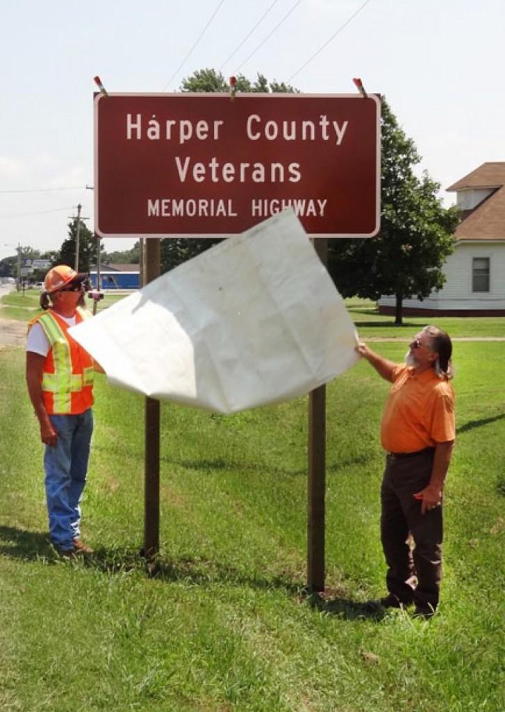KDOT Harper Harper County Veterans Memorial2